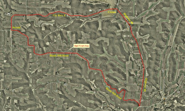 Bike Race Map Blank Hill Road
