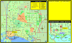 Bike Routes, Long Beach, California Map