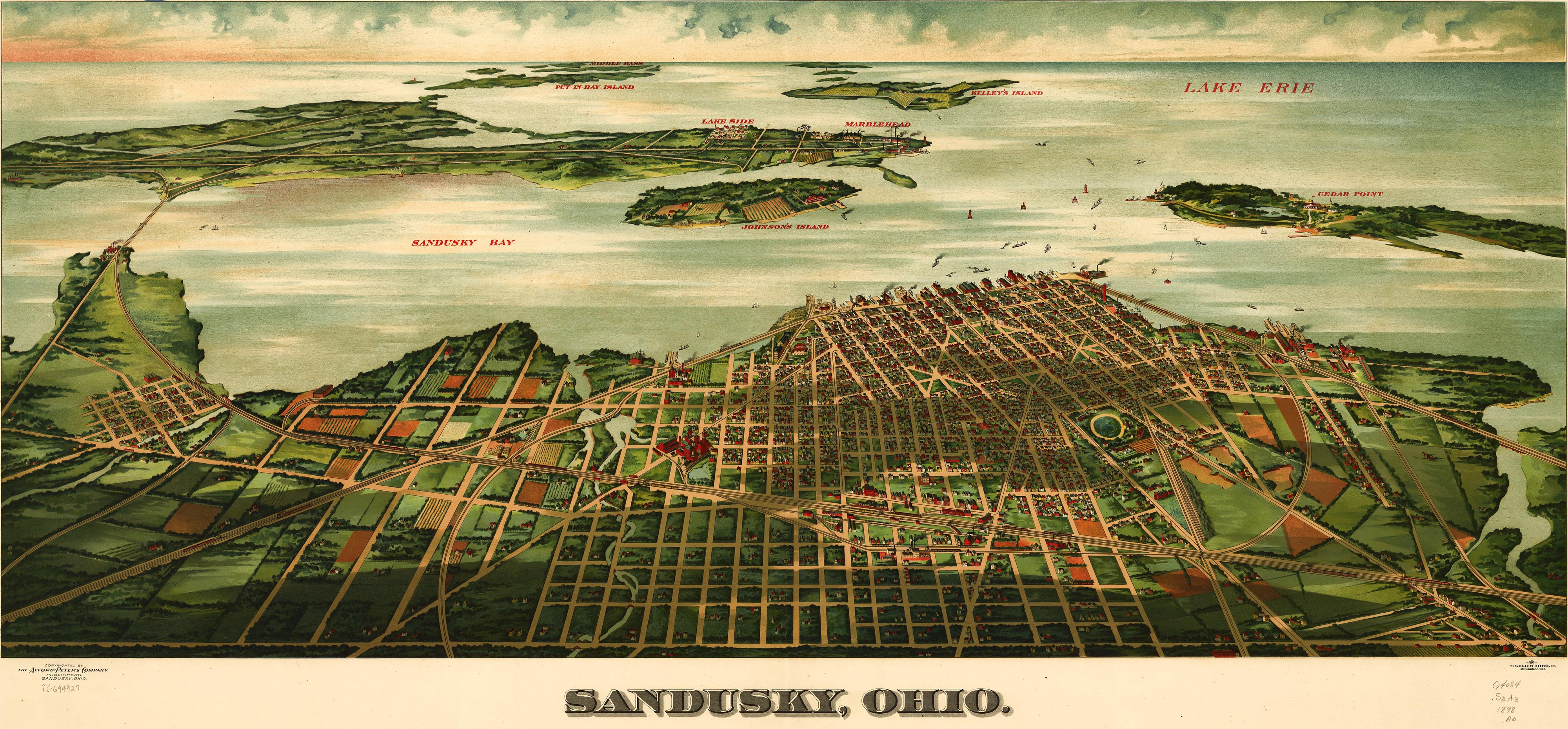ohio state university maps with Birdseye Map Of Sandusky Ohio 1898 on Img 3828 also 3885 furthermore City Map Legend additionally 496810 furthermore Ernie Lapointe2.