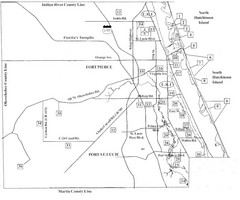 Birdwatching Areas in St. Lucie County Florida Map