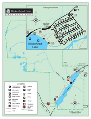 Birkenhead Lake Provincial Park Map