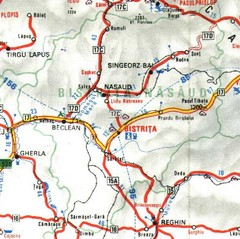 Bistrita-Nasaud Map