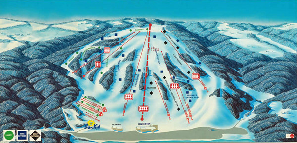Bittersweet Ski Area Ski Trail Map