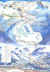 Bjelasica Ski Trail Map