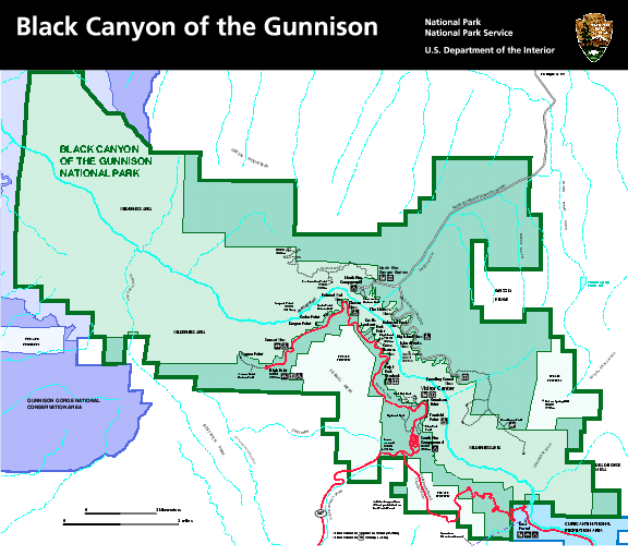 Fullsize Black Canyon of the Gunnison National Park Map