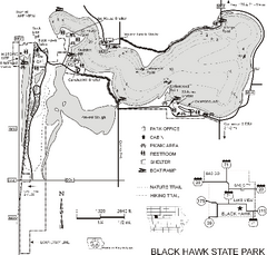 Black Hawk State Park Map