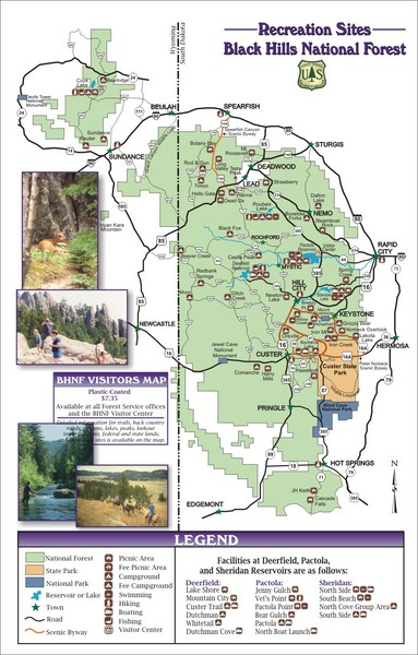 Black Hills National Forest Tourist Map - Custer SD • mappery