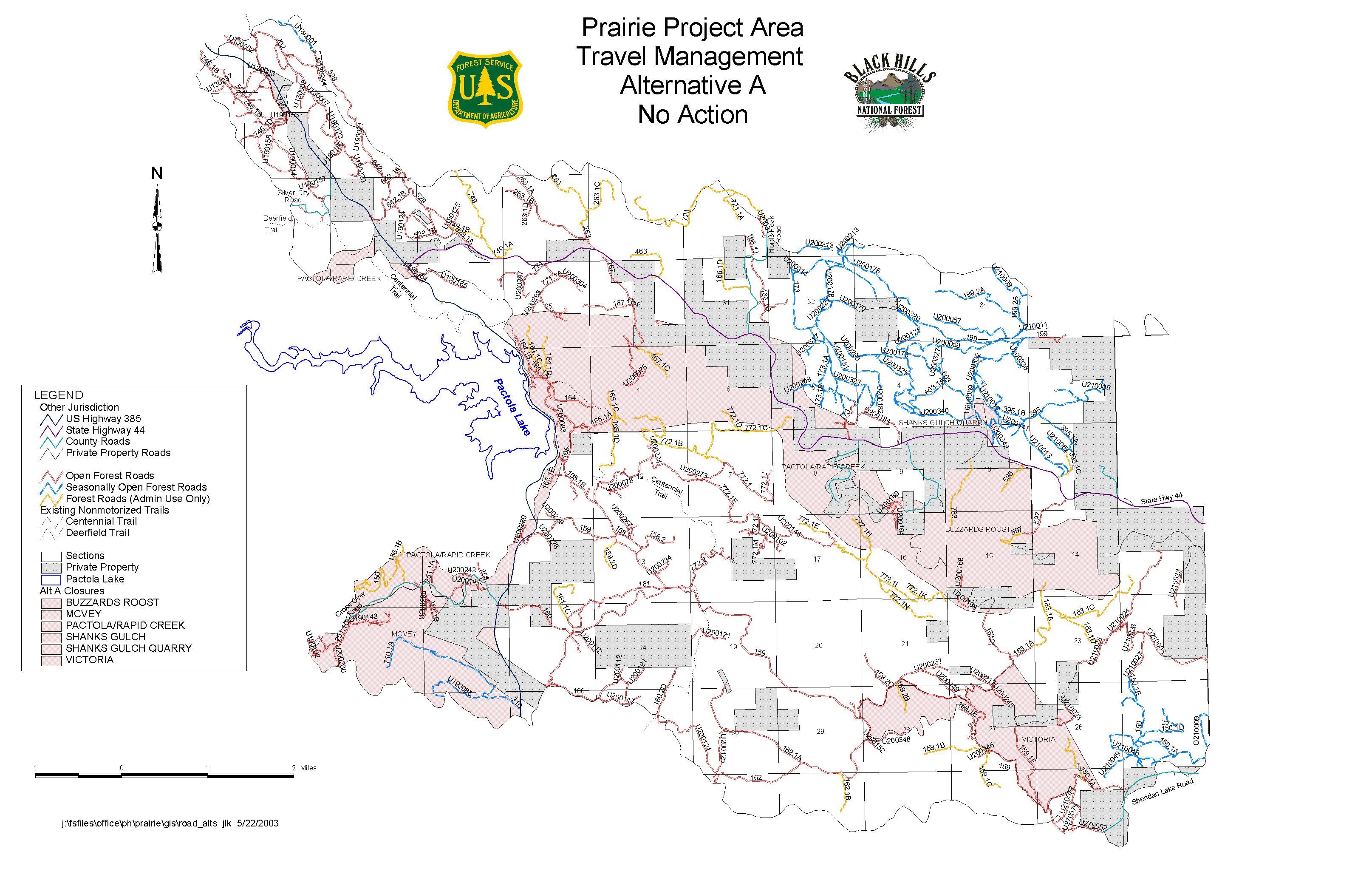 Black Hills National Forest Park Map - custer North Dakota ...