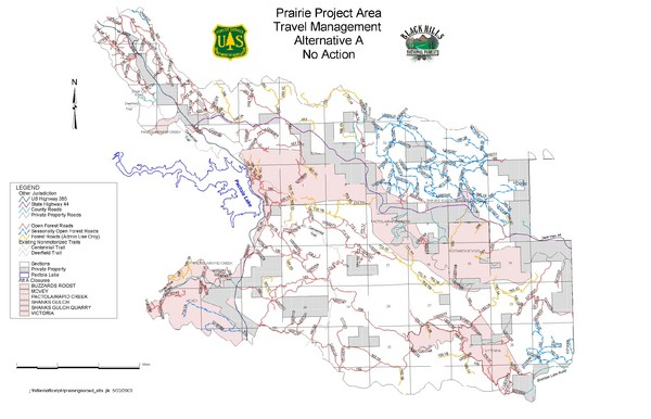 Black Hills National Forest Park Map - custer North Dakota • mappery