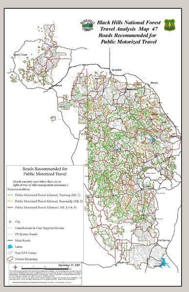 Black Hills National Forest Tourist Map