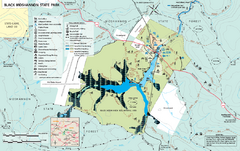 Black Moshannon State Park map