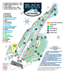 Black Mountain Ski Trail Map