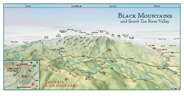 Black Mountains Panorama Map