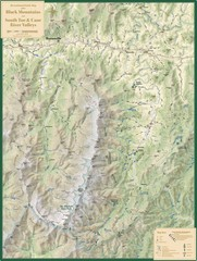 Black Mountains and South Toe and Cane River Valleys Map