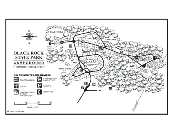 Black Rock Campground map