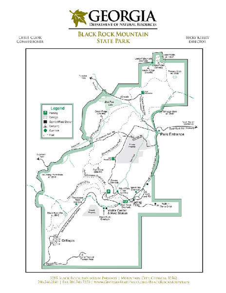 Black Rock Mountain State Park Map