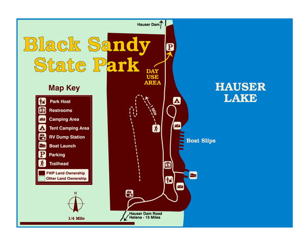 Black Sandy State Park Map