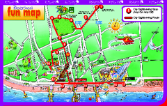 Blackpool Bus Tour Map