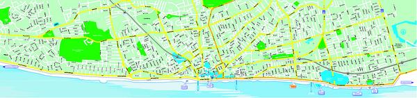 Blackpool Street Map Blackpool UK mappery
