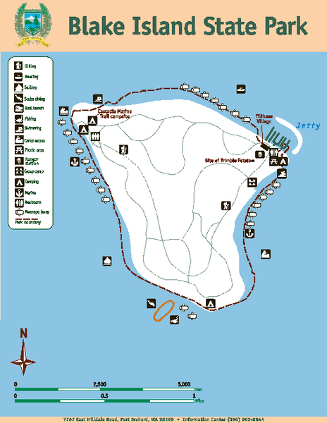 Blake island state park map blake island state park port for Island beach state park fishing report