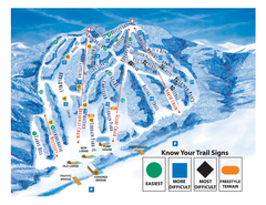 Blandford Ski Area Ski Trail Map