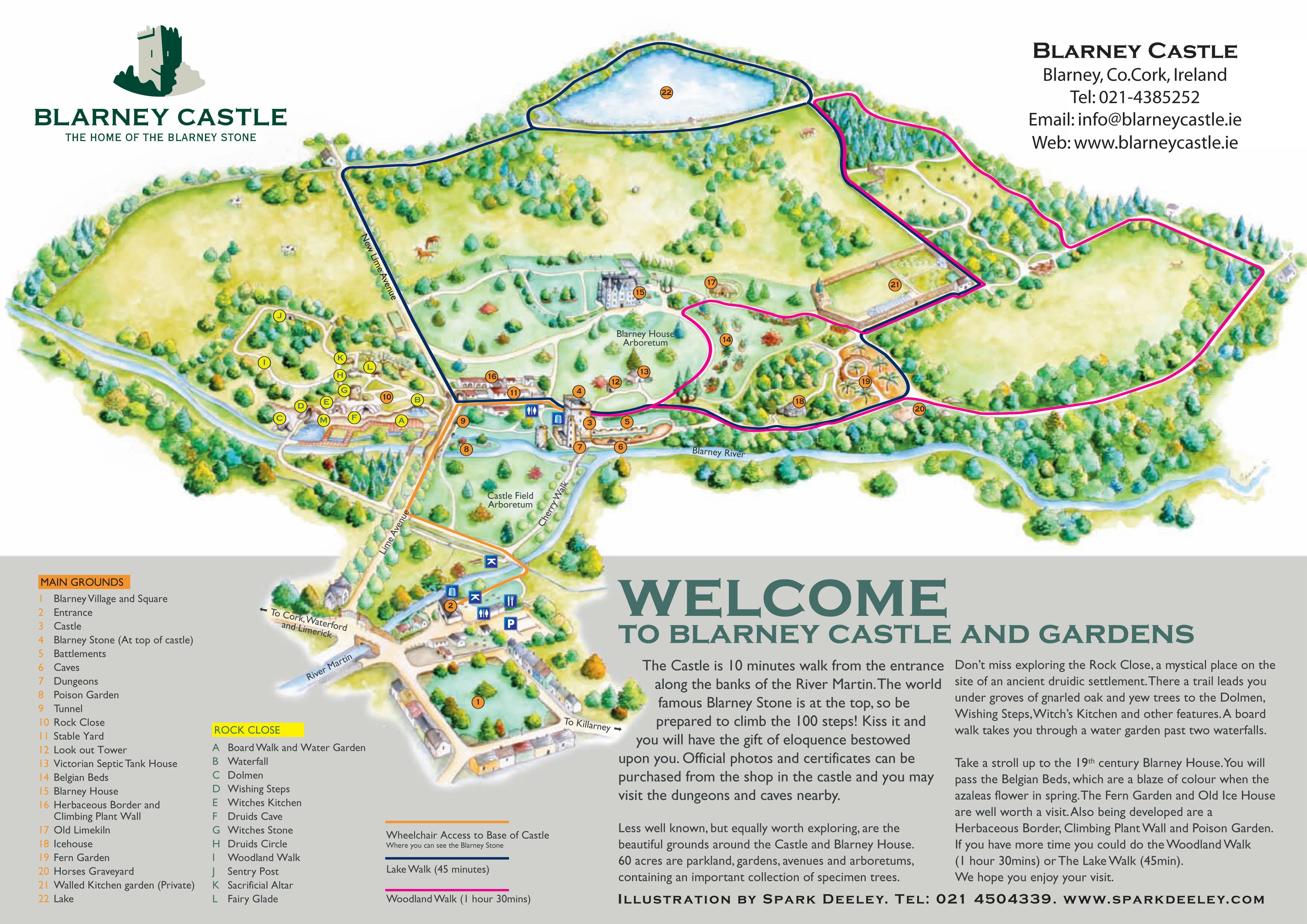 Blarney Castle Map   Blarney Castle Ireland • mappery