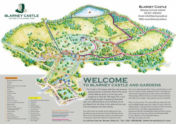 Blarney Ireland Map.Blarney Castle Map Blarney Castle Ireland Mappery