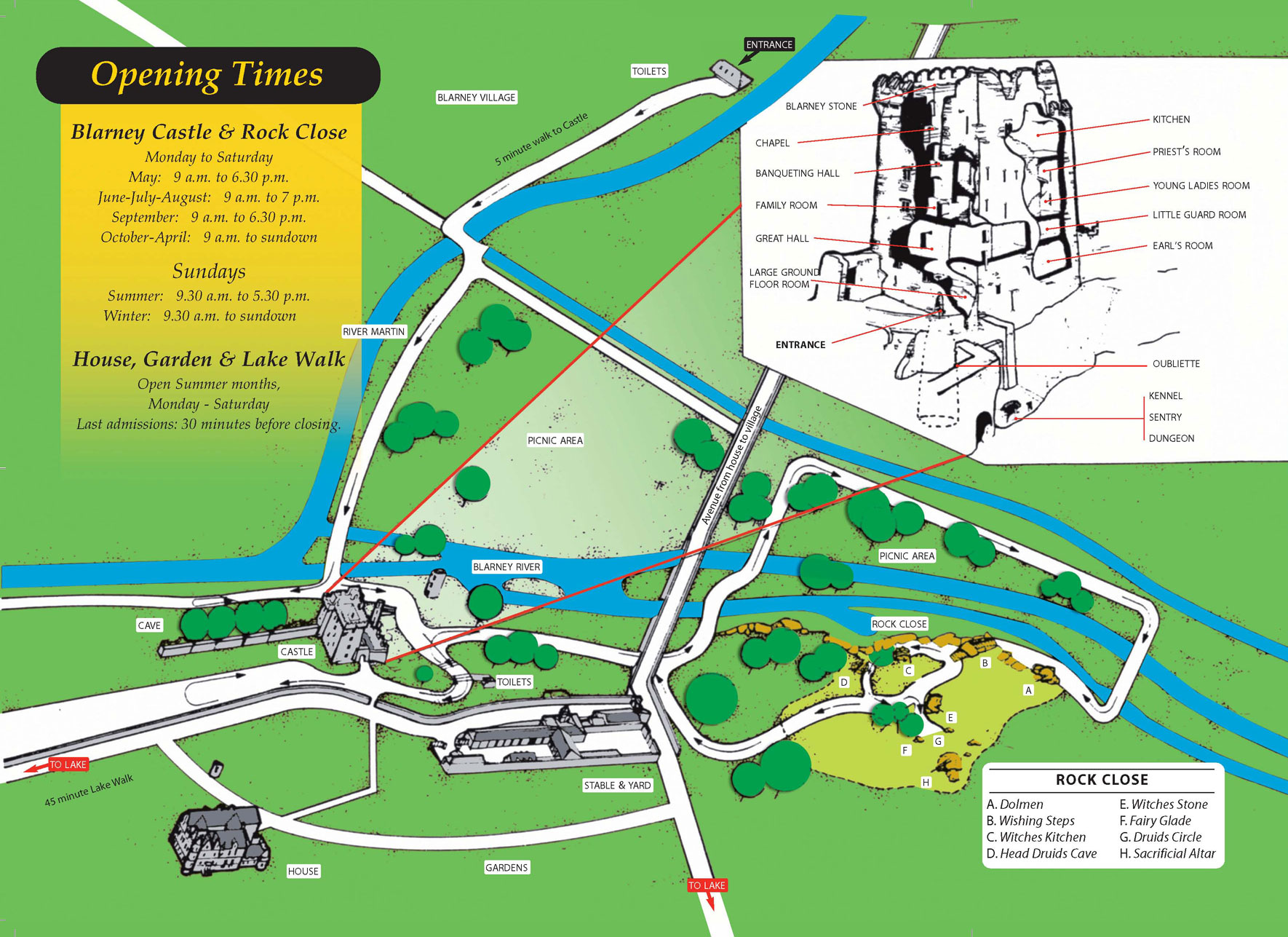 Blarney castle map see map details from blarneycastle ie created 7 17