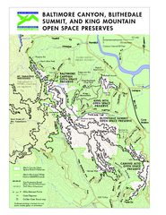 Blithedale Summit Open Space Preserve Map