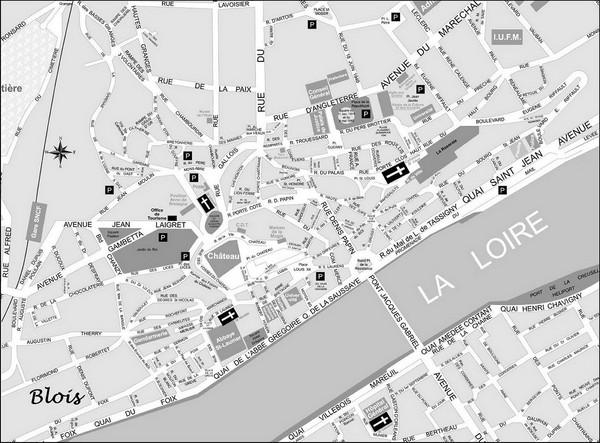 Blois Street Map Blois France mappery