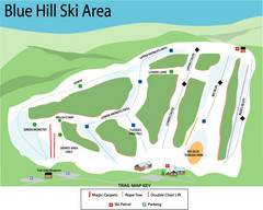 Blue Hills Ski Area Ski Trail Map