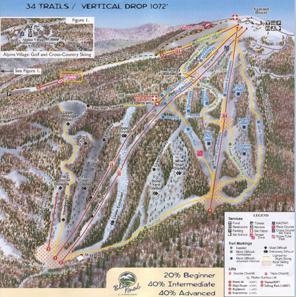Blue Knob Four Seasons Ski Trail Map