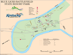 Blue Licks Battlefield State Resort Park Map
