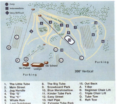 Blue Marsh Ski Area Ski Trail Map
