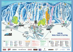 Blue Mountain Ski Trail Map