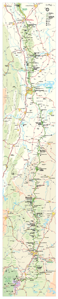 Blue Ridge Parkway Official Map