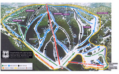 Bluewood Ski Trail Map