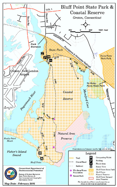 Fullsize Bluff Point State Park Map