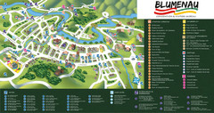 Blumenau Tourist Map