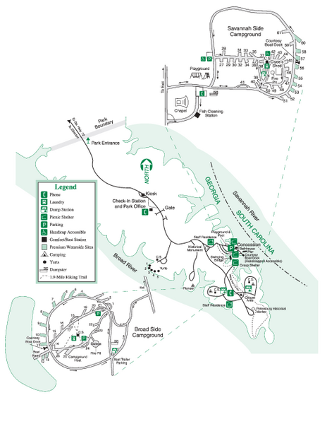 Bobby Brown State Park Map