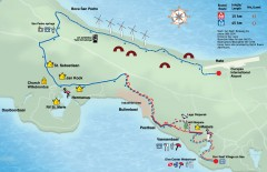 Boca St. Michiel Malpais Mountain Biking trail map