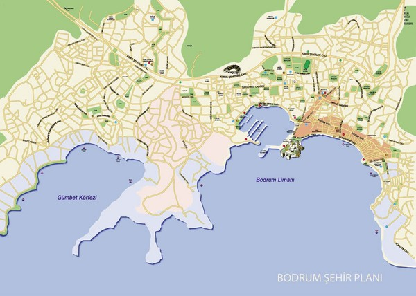 Bodrum City Map