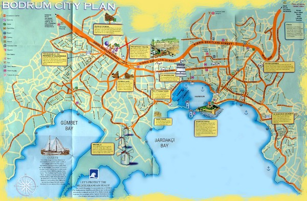Bodrum Tourist Map