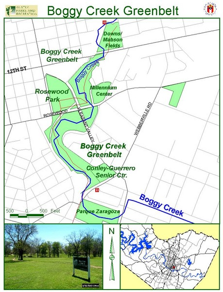 boggy creek greenbelt map 1114 nile st austin mappery