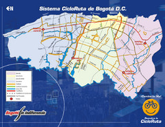 Bogota Bicycle Map