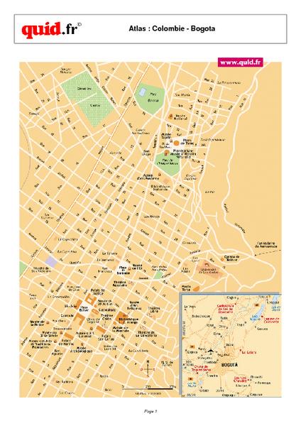Bogota City Map - Bogota Colombia • mappery