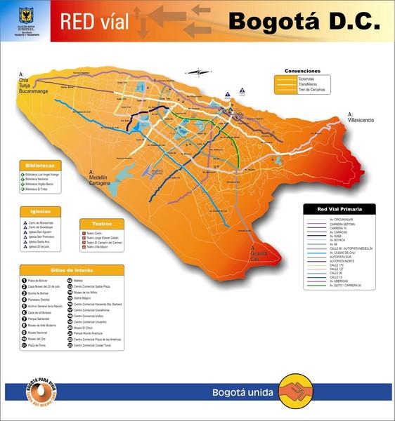 Bogota Transit Map Bogota Colombia Mappery