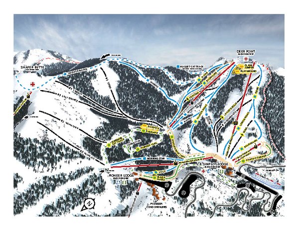 Bogus Basin Frontside Ski Trail Map