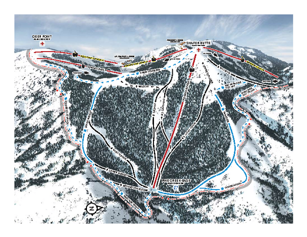 Bogus Basin Pine Creek Ski Trail Map