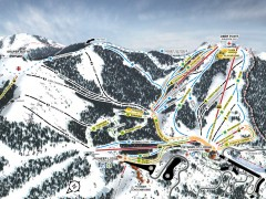 Bogus Basin Ski Trail Map - Front